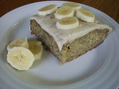 Banana Cake with Banana Buttercream Icing