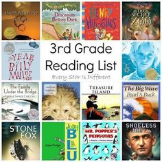 Every Star Is Different: 3rd Grade Reading List 3rd Grade Reading Books, 3rd Grade Chapter Books, Third Grade Writing, Reading Lists, Reading Response, Reading Resources, Guided Reading, Book Lists, Book Club Books