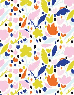 Flower cutout pattern design by blacklambstudio