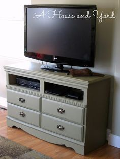 A House And Yard Old Dresser Chalk Paint Tv Stand