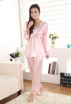 seiden Schlafanzug für Damen damen pyjama schlafanzug damen