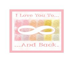I Love You To Infinity And Back Typography by LovesParisStudio, $30.00