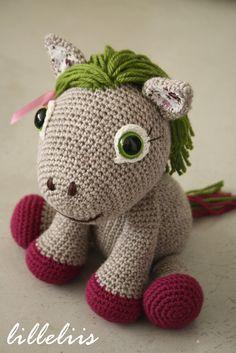 PATTERN Pony girl, crochet amigurumi toy. $6.50, via Etsy.