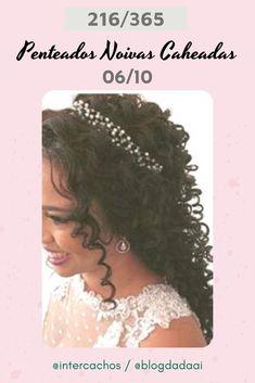 Penteados para Noivas Caheadas & Crespas #penteadosparanoivas #noivascacheadaseCrespas Crochet Hats, Fashion, Curly, Up Dos, Engagement, Tips, Knitting Hats, Moda, Fashion Styles