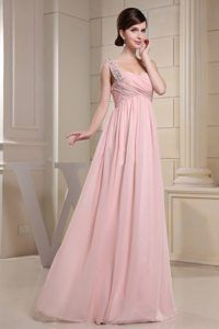 Beaded-Decprate-One-Shoulder-and-Ruched-Bodice-For-Baby-Pink-Prom-Dress