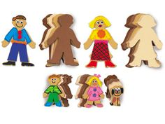 Use Lakeshore's People Shapes™ for family collages…or design & decorate individual people!