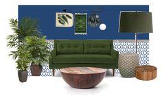 Living room 2 by alannahdee on Polyvore featuring interior, interiors, interior design, home, home decor, interior decorating, West Elm, Palecek, Arteriors and NOVICA