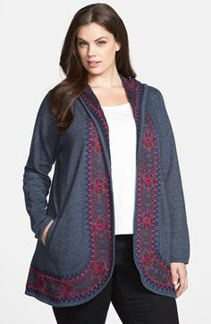 Lucky Brand 'Moroccan' Embroidered Cardigan