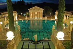 Hearst Castle, Neptune pool of William Hearst, San Simeon, California