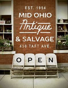 What a playful way to tell your customers you're open. We dig it! #Retail #Signage #ShopLocal