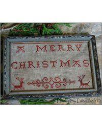 Merry Christmas Redwork Sampler