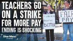 Teachers Go On Strike For More Pay, What Happens Next Is Shocking. For more motivational videos, visit DharMann.com #DharMann