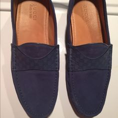 Gucci loafers navy blue Gucci men's loafers Gucci Shoes Flats & Loafers