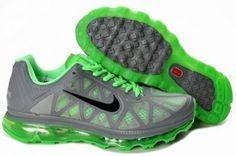 Nike Air Max 2011 ( Mesh) verde / gris / negro http://www.esnikerun.com/