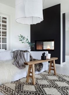 Interior Design with black and white rugs Interiordesignshome.com