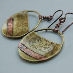 Mixed Metal Medallion Earrings
