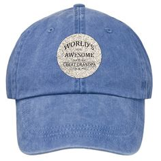 Worlds Most Awesome Great Grandpa Stonewashed Cap
