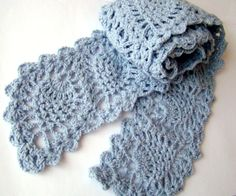 Handmade Crochet Pineapple Scarf - Ready for Shipping on Etsy, $31.04