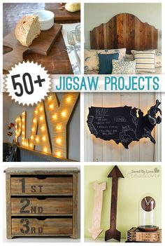 50 Plus Best DIY Home Decor Projects to Make With a Jigsaw @savedbyloves