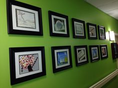 Gallery Wall in our Memory Care Unit