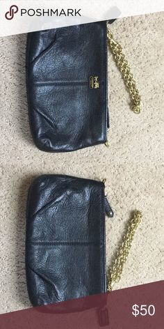 Black coach clutch Cute leather clutch. In perfect condition. Only used a few times for weddings. Coach Bags Clutches & Wristlets