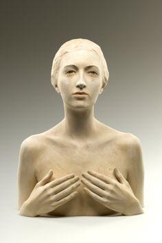 Wood sculpture by Bruno Walpoth Human Sculpture, Sculpture Clay, Italian Artist, Life Drawing, Figurative Art, Ceramic Sculpture Figurative, Oeuvre D'art, Ceramic Art, Wood Art