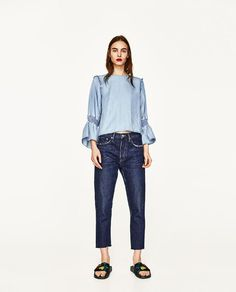 ZARA - WOMAN - FLOWING SHIRT WITH FRILLED CUFFS