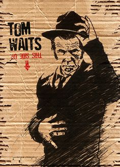 TOM WAITS (This side up) by Marco Moura, via Behance