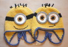 Repeat Crafter Me: Crochet Minion Hat - FREE Pattern