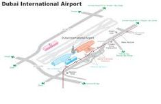 Dubai Airport Map Terminal 3 The Best Airport in The Whole World