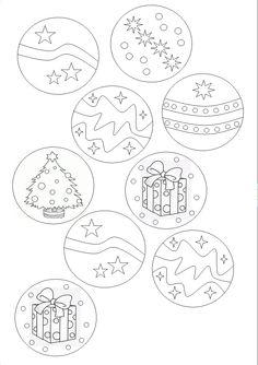 Bolas de Navidad para colorear