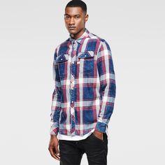G-Star RAW | Men | シャツ | Landoh Long Sleeve Shirt , Rinsed