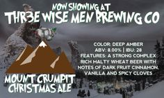 Scotty's Thr3e Wise Men Brewing Company has tapped their Mount Crumpit Christmas Ale. Stop by for a growler fill for only 8 bucks today.