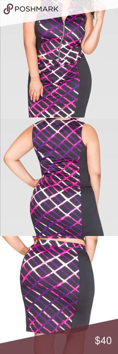 92d6ccf993e84 Ashley Stewart Grid Crop Top   Pencil Skirt NWT