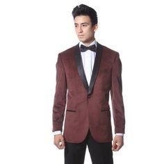 awesome Zonettie by Ferrecci Premium Velvet Shawl Tuxedo Blazer - 6 Colors - For Sale