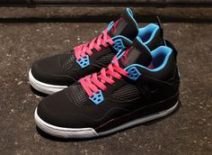 Air Jordan 4 GS - Dynamic Blue & Vivid Pink | KicksOnFire