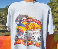 90s vintage t-shirt AUTO SHOW car denver race nascar tee XXL
