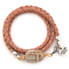 Scarab armband naturel