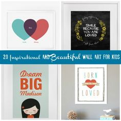 20 Inspirational and Beautiful Wall Art for Kids