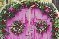 оформления выездной церемонии #wedding #pink #decor