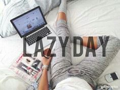 Image via We Heart It #bed #computer #cozy #day #happy #Lazy #phone