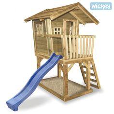 Boomhut Wickey Fun House, houten speelhuisje
