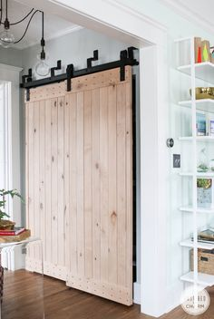 Barn Doors with bypass system for no room on the sides