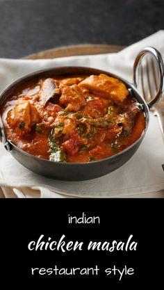 chicken masala - nearly indian restaurant style - glebe kitchen Curry Recipes, Veggie Recipes, Chicken Recipes, Cooking Recipes, Veggie Food, Rice Recipes, Cooking Tips, Indian Chicken Masala, Indian Curry
