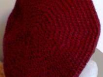 Basco in lana merino bordeaux