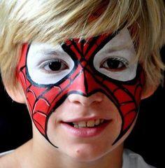 Maquillaje máscara de spiderman para carnavales