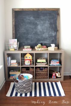 Organizing toys when you don't have a playroom