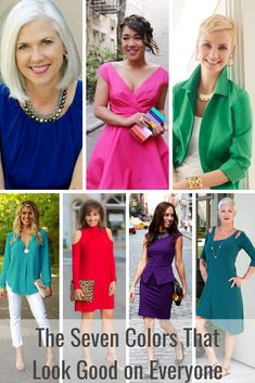 The newly updated SEVEN colors that look good on everyone! Every Color Code! From Tabitha Dumas Phoenix Image Consultant Pink Outfits, Classy Outfits, Fashion Outfits, Casual Outfits, Women's Fashion, Fashion Trends, Capsule Wardrobe Women, Fashion Capsule, Over 60 Fashion