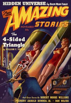 AMAZING STORIES | vintage science fiction pulp cover art