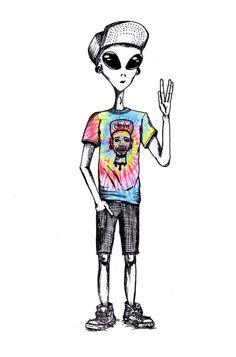 Alien boy in human tie dye trippy wallpaper, hipster wallpaper, alien drawings, trippy Alien Drawings, Drawing Faces, Art Drawings, Hipster Drawings, Couple Drawings, Trippy Drawings, Drawing Art, Drawing Tips, Pencil Drawings